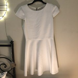 Alice & Olivia white fit to flare dress!